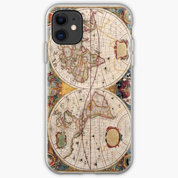 Old World map iPhone Soft Case