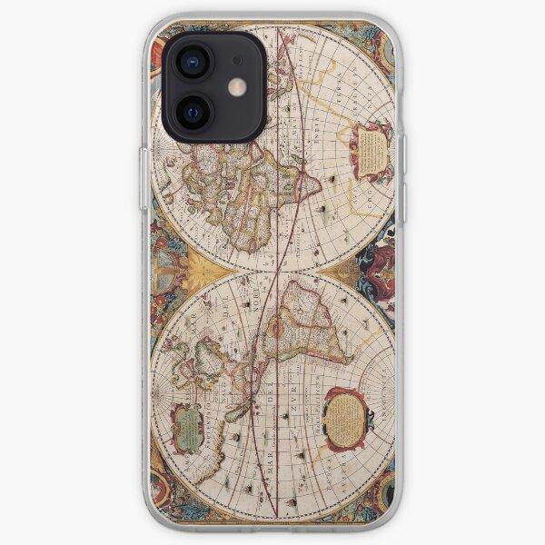 Carte du vieux monde Coque souple iPhone