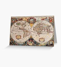 Old World map Greeting Card