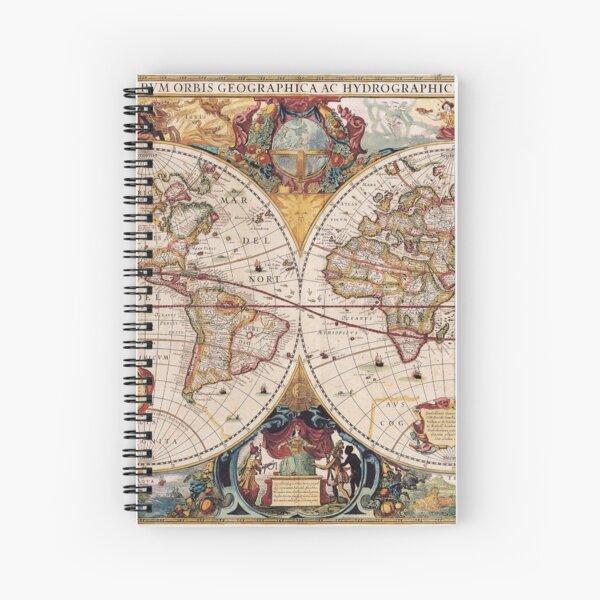 Old World map Spiral Notebook