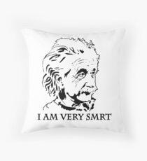 """""""I Am Very Smart"""" Misspelled under Einstein's Face Throw Pillow"""