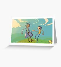 Rick and Morty, Adventure Time Greeting Card