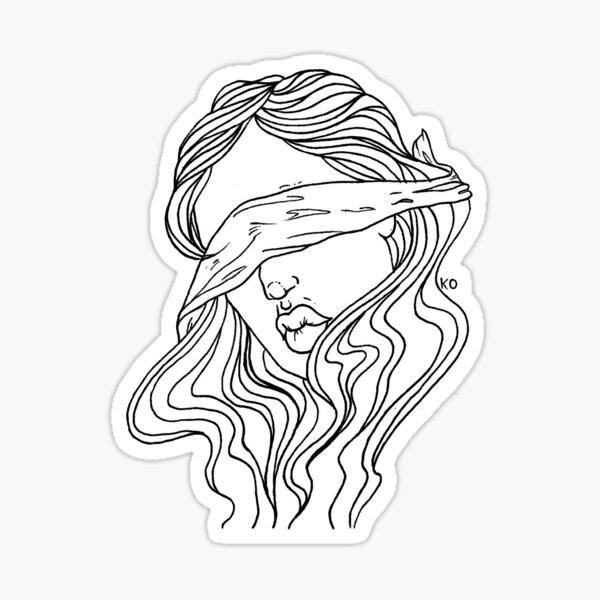 blind justice Sticker