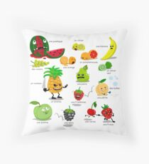 An Evil Pineapple Throw Pillow