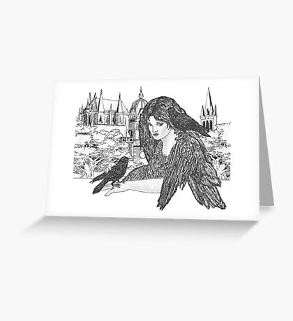 Black Winged Beauties Greeting Card