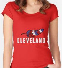 Cleveland Indians:I  Women's Fitted Scoop T-Shirt