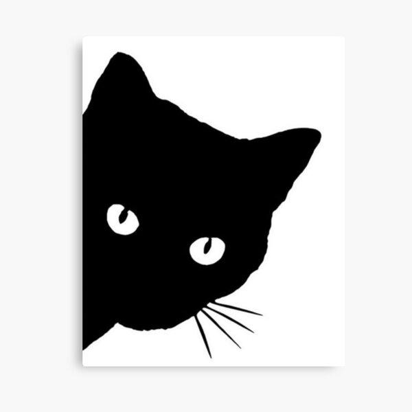 Funny Peeking black cat art Black cat PRINT Poster Wall art Wall decor Watercolor painting Extra large wall art Cat dad mom Cat lover gift