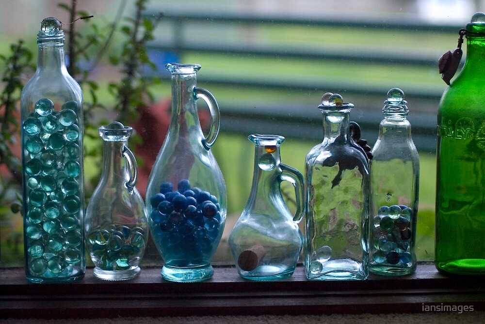 Glass Bottles Marbles #1 by iansimages