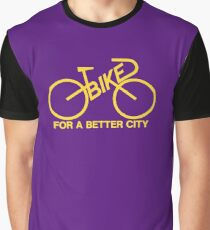 BIKE FOR A BETTER CITY - Yellow  Logo Collection - Vintage logo 1970 Bike Lobby New York City Graphic T-Shirt
