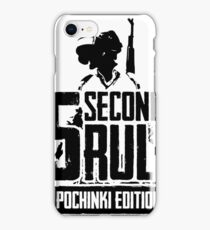5 Seconds Rule - Pochinki Edition - Black iPhone Case/Skin