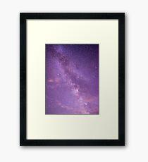 I'm lost in the night sky... Framed Print