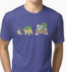Turtwig Evolution Tri-blend T-Shirt