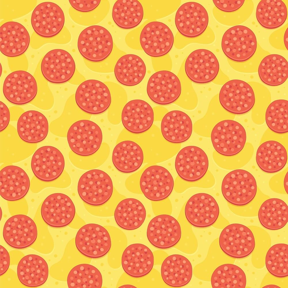 u0026quot pepperoni pizza pattern u0026quot  by irmirx