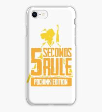 5 Seconds Rule - Pochinki Edition - Yellow iPhone Case/Skin