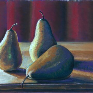 Gilded Pears by Hopemartinart