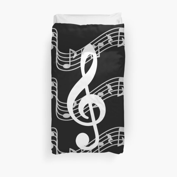 Staffs with Treble Clef Duvet Cover