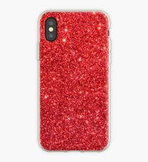 Shiny Sparkly Christmas Cherry Red Glitter iPhone Case