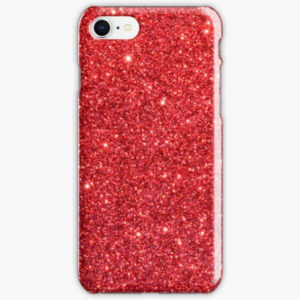 Shiny Sparkly Christmas Cherry Red Glitter iPhone Snap Case