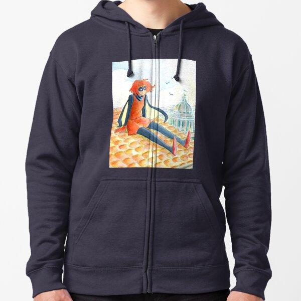 Bandette - Watercolor Zipped Hoodie