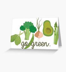 Go Green! - Vegan/Vegetarian  Greeting Card