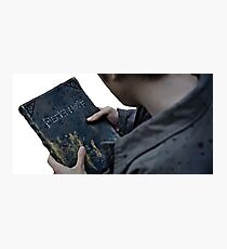 Death Note book Photographic Print