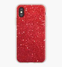 Soft Red Glittery Princess Valentine Bling Glitter Sparkles iPhone Case