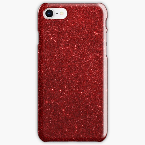 Deep Red Sparkly Valentine Sweetheart Glitter iPhone Snap Case