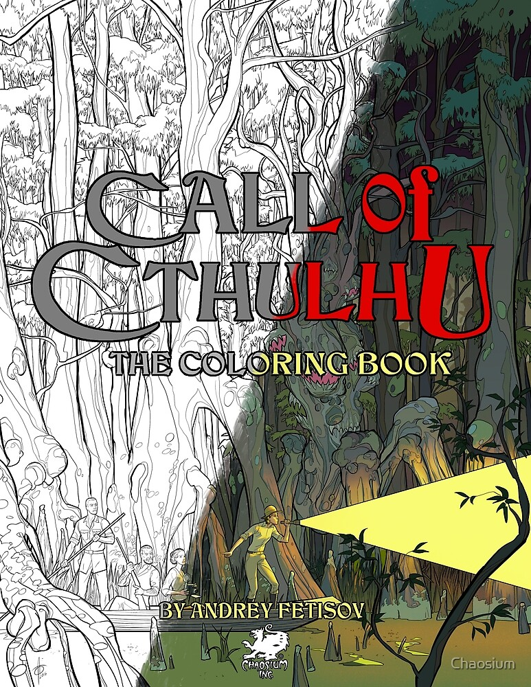 Call of Cthulhu The Colouring Book Split Cover - Art by Andrey ...