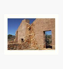 Kanyaka historic 'homestead', South Australia  Art Print