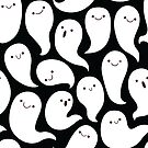 Friendly Ghosts (Black) by KristyKate