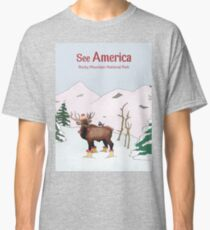 Travel Print Poster – See America (Rocky Mountains National Park) Classic T-Shirt