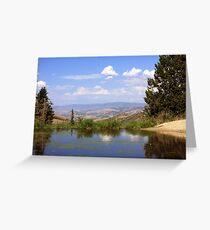 Small Lake above Farmington Canyon  Greeting Card