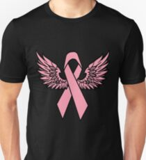 Winged Breast Cancer Awareness Ribbon Women's T-Shirts T-Shirt