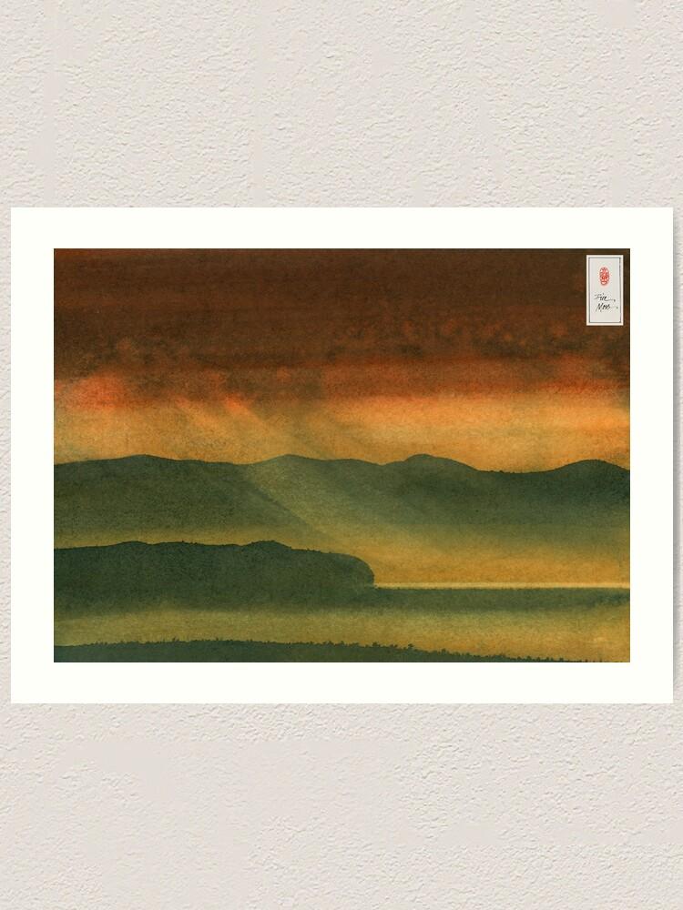 Alternate view of Autumn Valley Art Print