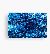 Cool Blue Graphic Pattern Canvas Print
