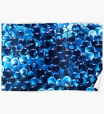 Cool Blue Graphic Pattern Poster