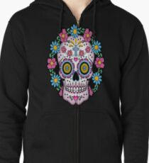 Dia de los Muertos Sugar Skull Zipped Hoodie