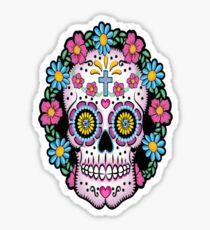 Dia de los Muertos Sugar Skull Sticker