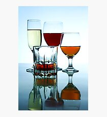 Alcoholic drinks in different glasses Photographic Print