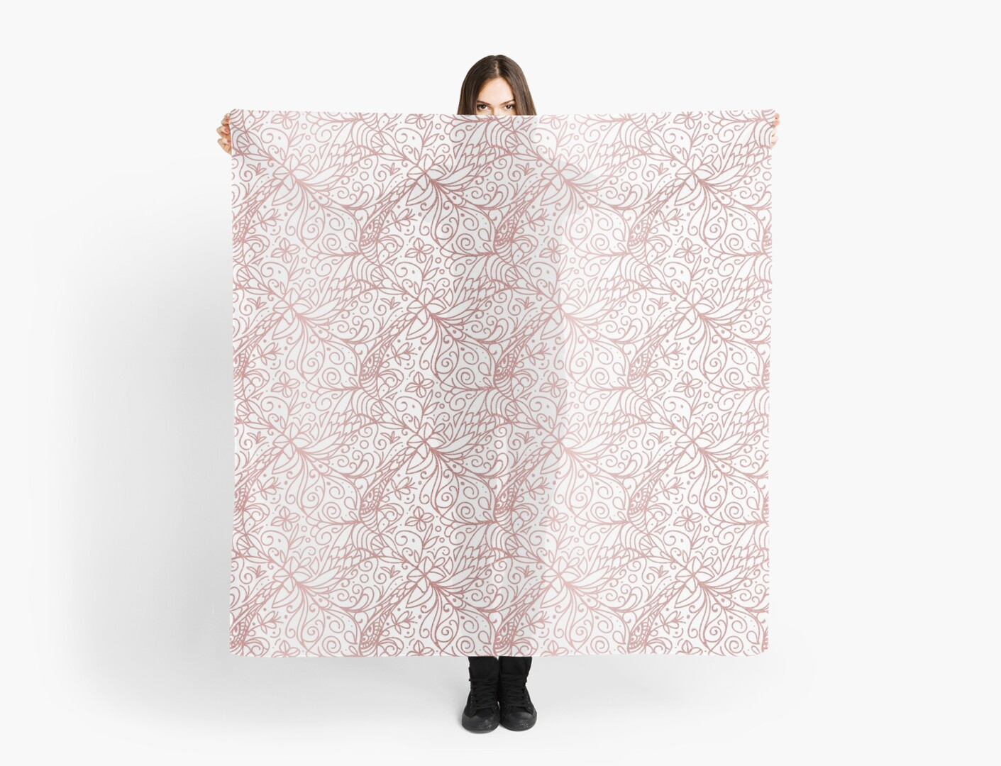 Rose Gold Shimmer Floral by tanyadraws