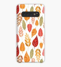 Painted Autumn Leaves Pattern Case/Skin for Samsung Galaxy