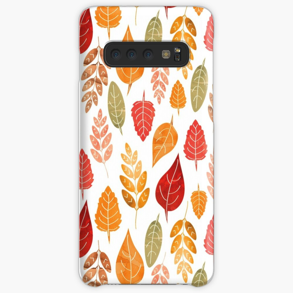 Painted Autumn Leaves Pattern Samsung Galaxy Snap Case