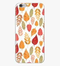 Painted Autumn Leaves Pattern iPhone Case