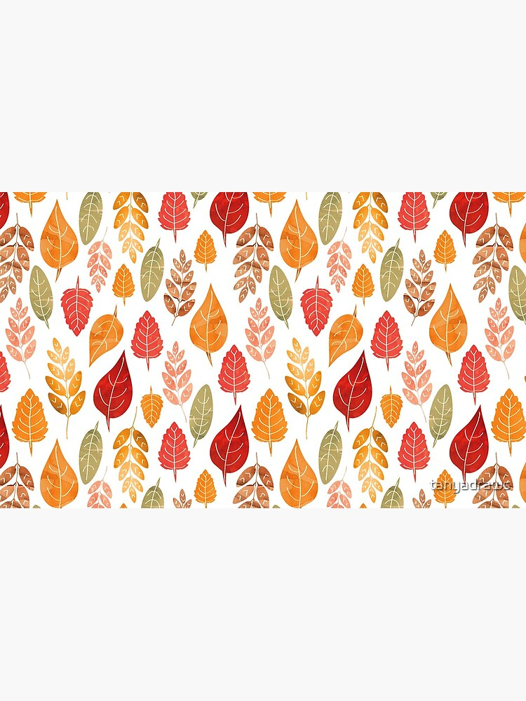 Painted Autumn Leaves Pattern by tanyadraws