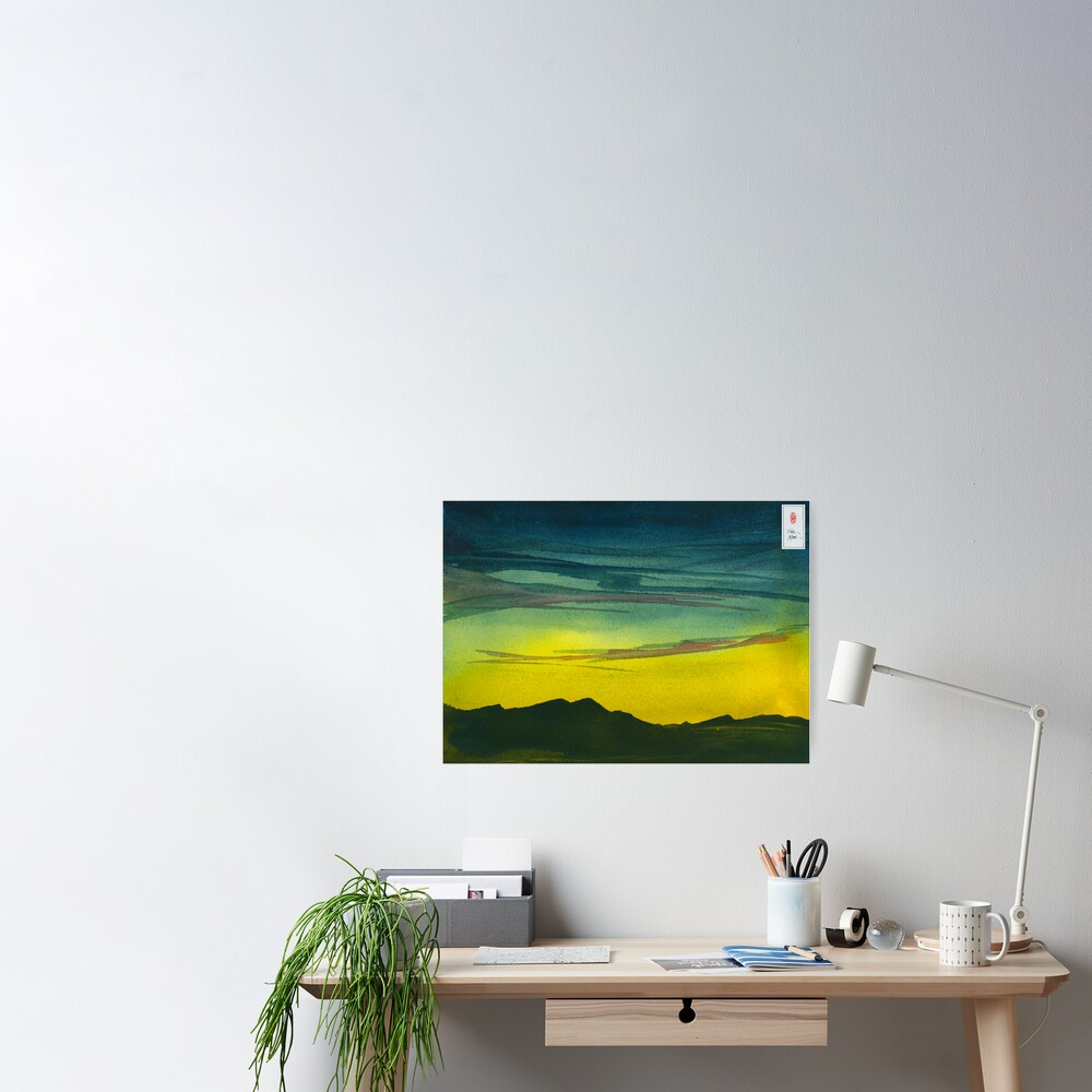 Yellow Valley Sky Poster