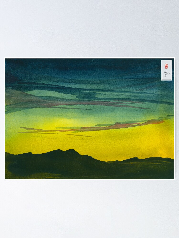 Alternate view of Yellow Valley Sky Poster