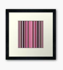 Grey-pink stripes  Framed Print