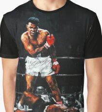 Muhammad Ali Knocks Out Sonny Liston Graphic T-Shirt