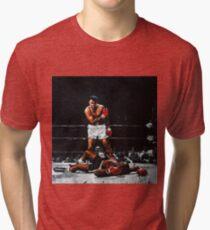 Muhammad Ali Knocks Out Sonny Liston Tri-blend T-Shirt