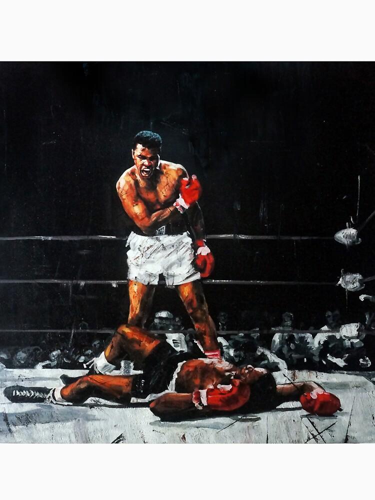 Muhammad Ali Knocks Out Sonny Liston by artkeepsake
